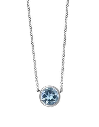 Effy 14K White Gold 0.75 TCW Aquamarine Necklace-AQUA-One Size