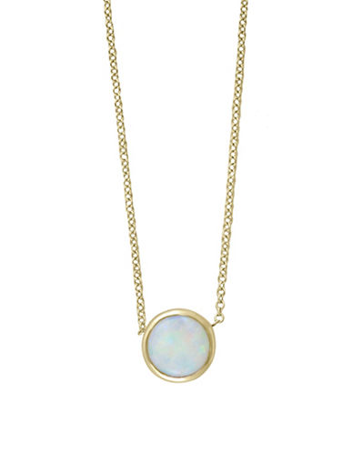 Effy 14K Yellow Gold 0.55 TCW Opal Necklace-OPAL-One Size