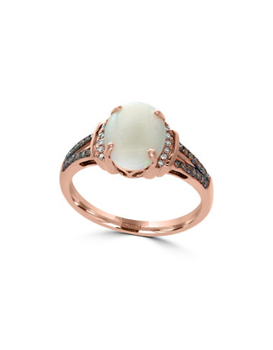 Effy 14K Rose Gold Opal Ring with  0.08 TCW Diamonds-OPAL-7