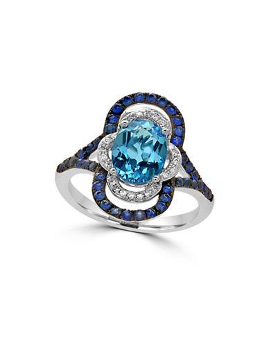 Effy 14K White Gold Blue Topaz Paisley Ring with 0.09 TCW Diamonds-BLUE TOPAZ-7