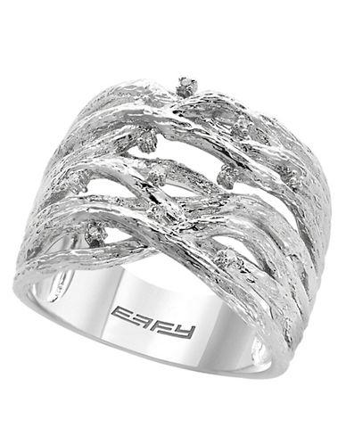 Effy 925 Sterling Silver 0.04TCW Diamond Ring-DIAMOND-7