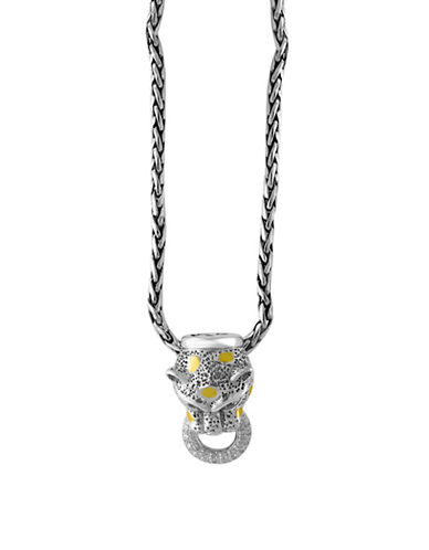 Effy 18K Yellow Gold Sterling Silver Sapphire Pendent Necklace with 0.06 TCW Diamonds-SAPPHIRE-One Size