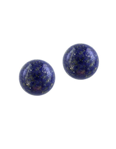 Effy Lapis Lazuli and 14K Yellow Gold Stud Earrings-BLUE-One Size