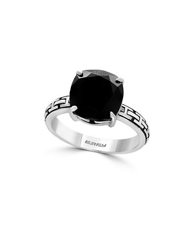Effy 925 Sterling Silver and Onyx Ring-ONYX-7
