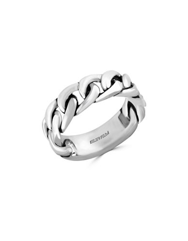 Effy Mens Sterling Silver Link Ring-SILVER-10