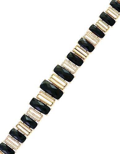 Effy 0.55 TCW Diamond, Onyx and 14K Yellow Gold Tennis Bracelet-ONYX-One Size
