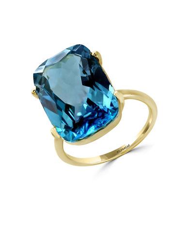 Effy 14K Yellow Gold London Blue Ring-BLUE TOPAZ-7