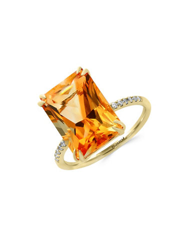 Effy 0.05 TCW Diamonds, Citrine and 14K Yellow Gold Ring-CITRINE-7
