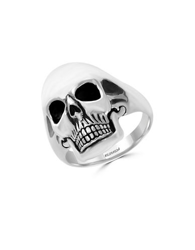 Effy Mens Sterling Silver Skull Ring-SILVER-10