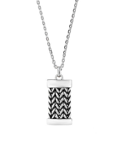 Effy Mens Sterling Silver Pendant Necklace-SILVER-One Size