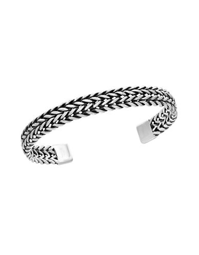 Effy Sterling Silver Braided Cuff Bracelet-GREY-One Size