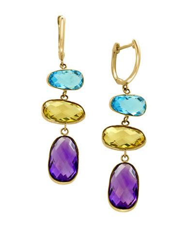 Effy 14K Yellow Gold Multi-Stone Earrings-MULTI-One Size