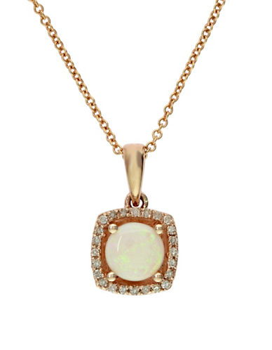 Effy 14K Yellow Gold and Opal Pendant Necklace with 0.07 TCW Diamonds-OPAL-One Size