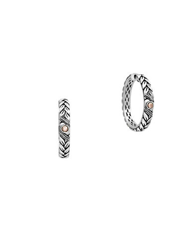 Effy 18K Rose Gold and 925 Sterling Silver Hoop Earrings-ROSE GOLD-One Size