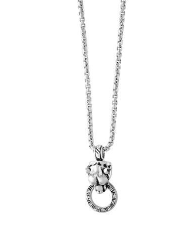 Effy Mens Black Spinel, Sterling Silver Pendant Necklace-BLACK-One Size