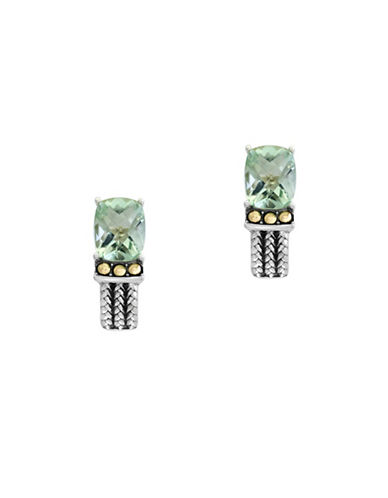 Effy Green Amethyst, 18K Yellow Gold and Sterling Silver Earrings-GREEN AMETHYST-One Size