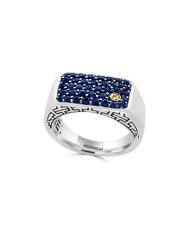 Effy Sapphire, 18K Gold and Sterling Silver Ring-BLUE-10