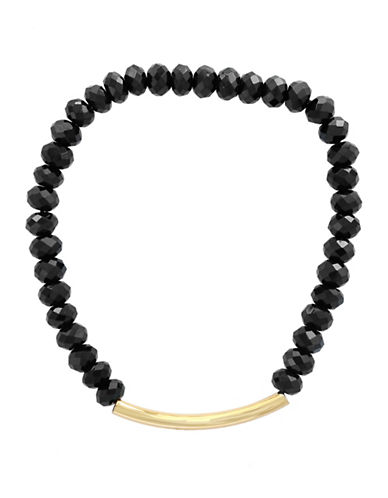 Effy Black Spinel and 14K Yellow Gold Bracelet-BLACK-One Size