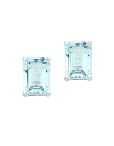 Effy Aquamarine and 14K White Gold Earrings-AQUA-One Size