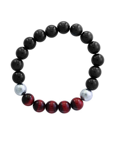 Effy Mens Tiger Eye Tennis Bracelet-RED-One Size