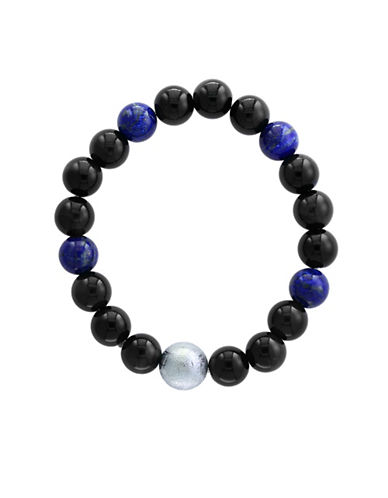 Effy Mens Lapis Lazuli and Tiger Eye Bracelet-BLUE-One Size