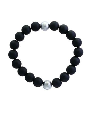 Effy Mens Onyx Tennis Bracelet-BLACK-One Size