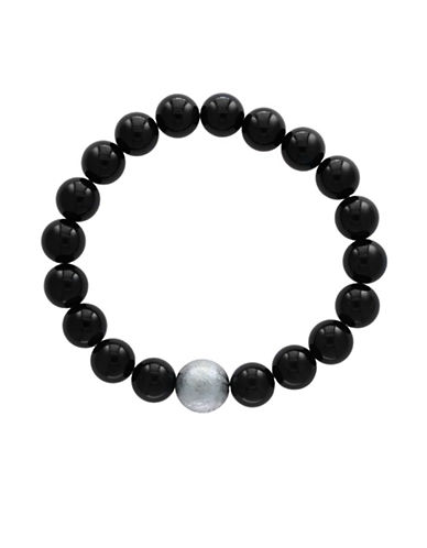 Effy Mens Tiger Eye Tennis Bracelet HUDSONS BAY EXCLUSIVE-BLACK-One Size