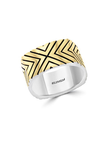 Effy Mens 925 Sterling Silver Ring-TWO-TONE-10
