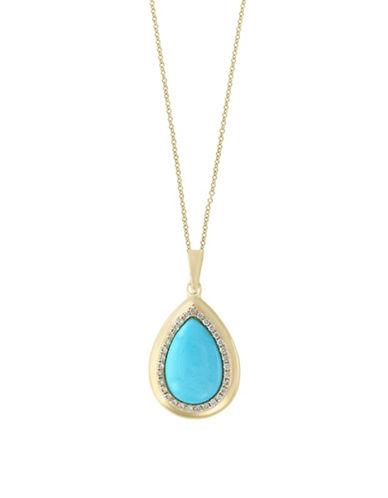 Effy Turquoise Pendant Necklace-TURQUOISE-One Size