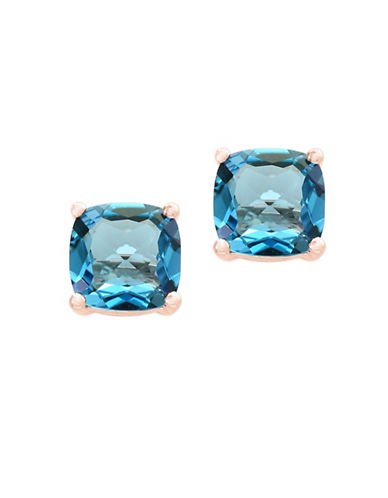 Effy London Blue Topaz 14K Rose Gold Earrings-BLUE-One Size