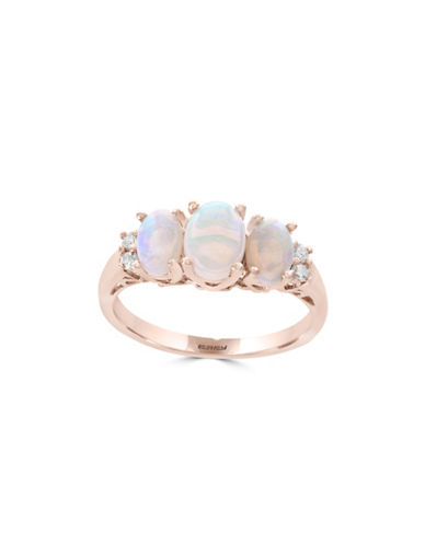 Effy 14K Rose Gold Opal and 0.08TCW Diamond Ring-WHITE-7