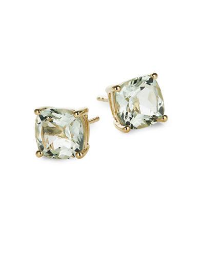 Effy 14K Yellow Gold Green Amethyst Earrings-GREEN-One Size