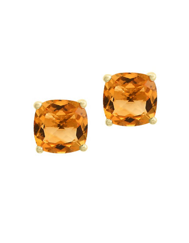 Effy 14K Yellow Gold Citrine Stud Earrings-CITRINE-One Size