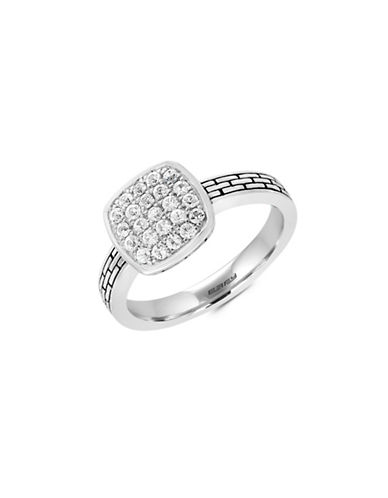 Effy Sterling Silver White Sapphire Ring-WHITE SAPPHIRE-7