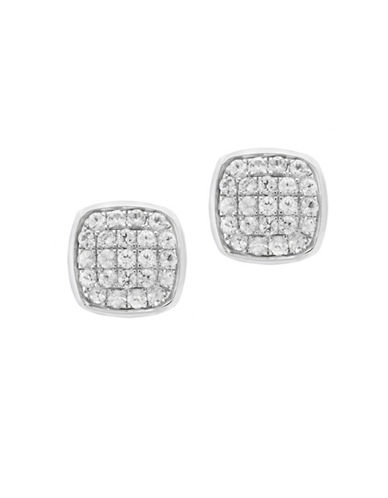 Effy White Sapphire and Sterling Silver Earrings-WHITE-One Size