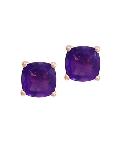 Effy Amethyst and Rose Gold Earrings-AMETHYST-One Size