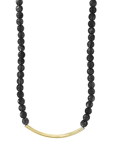 Effy Black Spinel and 14K Yellow Gold Necklace-BLACK-One Size