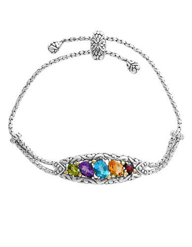 Effy Gemstone and Sterling Silver Tennis Bracelet-MULTI-One Size