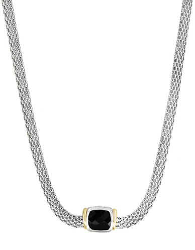 Effy Onyx, 18K Yellow Gold and Sterling Silver Pendant Necklace-BLACK-One Size