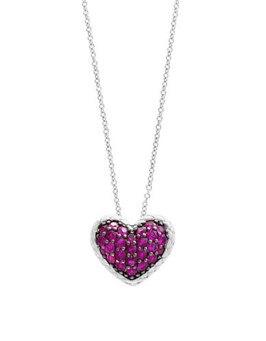 Effy Sterling Silver Ruby Heart Pendant Necklace-RUBY-One Size