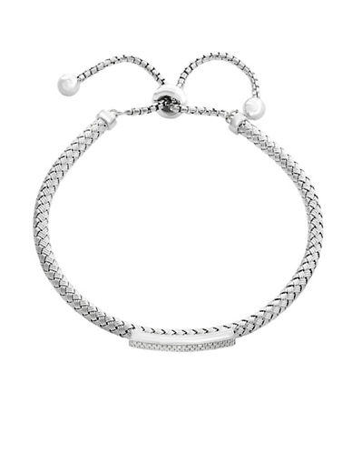 Effy Sterling Silver and 0.17 TCW Diamond Bracelet-WHITE-One Size