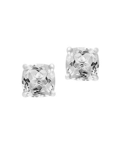 Effy 14K White Gold Topaz Stud Earrings-WHITE TOPAZ-One Size