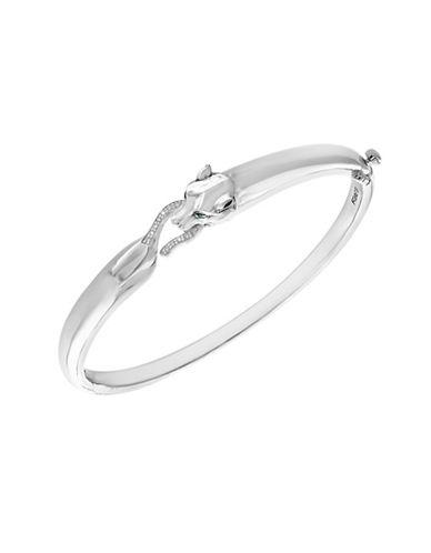 Effy Tsavorite and Sterling Silver Bangle Bracelet with 0.06 TCW Diamond-WHITE-One Size