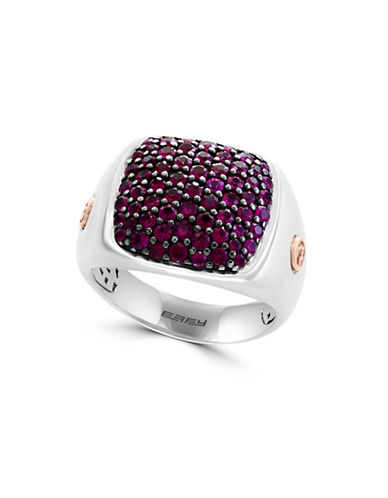 Effy Ruby, 18K Rose Gold and Sterling Silver Ring-RED-10