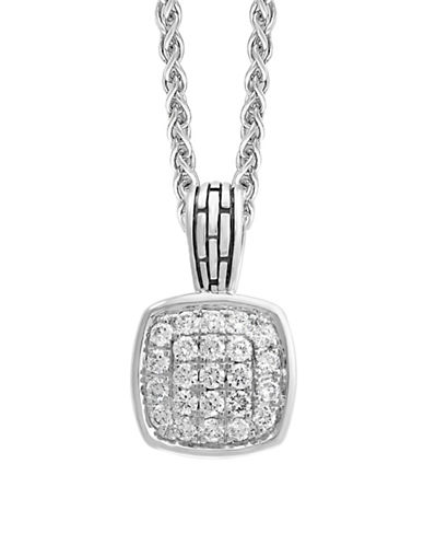 Effy Sterling Silver White Sapphire Pendant Necklace-SILVER-One Size
