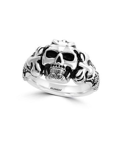 Effy Sterling Silver Skull Ring-GREY-10