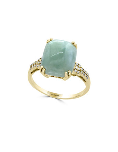 Effy 14K Yellow Gold Jade and Diamond Ring-JADE-One Size
