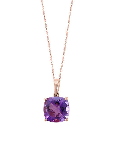 Effy Amethyst and 14K Rose Gold Pendant Necklace-PURPLE-One Size
