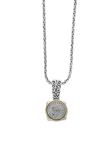 Effy Diamond, 18K Gold and Sterling Silver Braided Pendant Necklace-WHITE-One Size