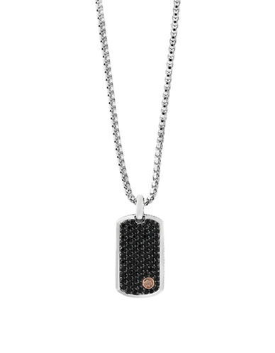 Effy Black Sapphire, 18K Rose Gold and Sterling Silver Pendant Necklace-BLACK-One Size